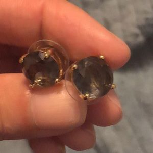 Kate Spade  Earrings In smoky quartz color.